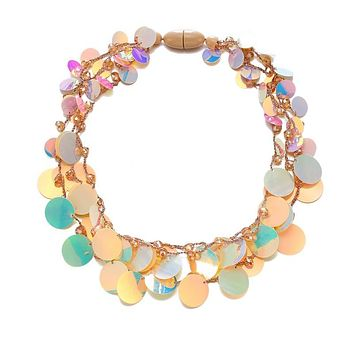 TIVA - Sequin Collar Necklace