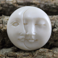 Double Moon Face Cabochon 25mm