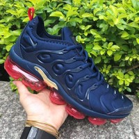 Nike Air VaporMax Plus Navy Red Gold Running Shoes - Best Deal Online