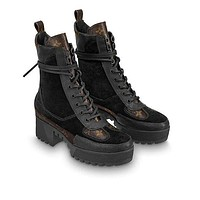 Louis Vuitton LV woman Martin short boots-3