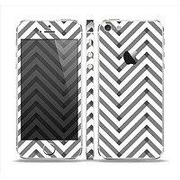 The White & Black Sketch Chevron Skin Set for the Apple iPhone 5