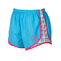 Monogram Running Shorts Women's Ladies Monogrammed Athletic Shorts, with printed insets!  Made to Order with Your initials