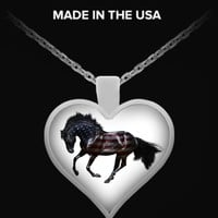American Horse Heart Necklace