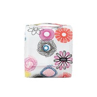 Small Squared-Away Cosmetic Case in Spirograph
