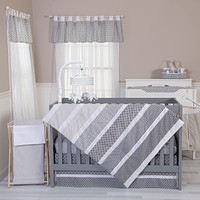 Baby Bedding Sets  - Ombre Gray 5 Piece Bedding Sets Set