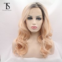 Korean Lace Cosplay Wigs Synthetic Lace Front Wigs