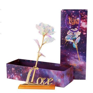 24K Rose Gift with Lights Lasts Forever Love Gift
