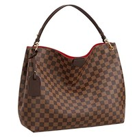 eLVe Damier Ebene Graceful MM Tote Handbag Article:N44045