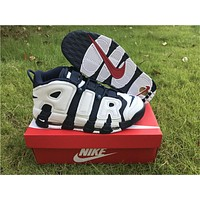 Nike Air More Uptempo Air White Blue Size US7-12