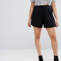 ASOS CURVE Pleated Culotte Shorts at asos.com