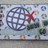 4x6 Travel or Vacation Chipboard Mini Scrapbook