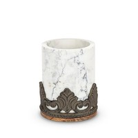 GG Collection Marble Wood Utensil Holder