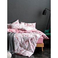Marble Print Bedding Set Without Filler