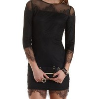 Bodycon Scalloped Lace Dress by Charlotte Russe