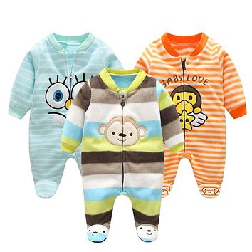Autumn Baby Rompers Christmas Baby Boy Clothes born Clothing Polar Fleece Baby Girl Clothes Roupas Bebe Infant Baby Jumpsuits