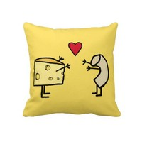 Mac and Cheese Pillow from Zazzle.com