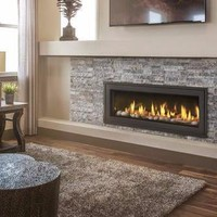 """Napoleon Vector LV50 Direct Vent 50"""" Electronic Ignition Fireplace with Surround"""