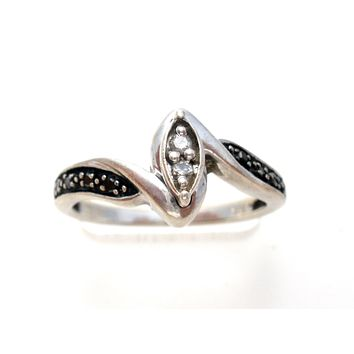 Black & White Diamond Ring Size 7