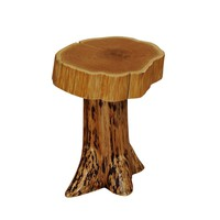 Natural Traditional Cedar Stump Nightstand