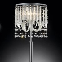 "Elegant 31""H Fairy Mist Crystal Table Lamp Collection"