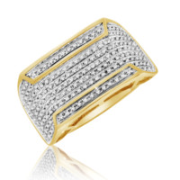 Diamond Micropave Mens Ring 0.39 Cttw in 10KT
