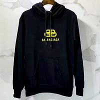 Balenciaga Tide brand lock printed logo letters for men and women sweater hoodies