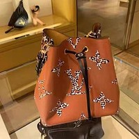 LV NEONOE canvas leopard print simple drawstring bucket bag shoulder messenger bag