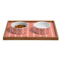 Heather Dutton Arcada Persimmon Pet Bowl and Tray