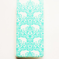 iPhone 6 Plus Case Cover Tribal Elephant Pattern iPhone 6 Plus Hard Case Geometric Back Cover For iPhone 6 Plus Slim Design Case