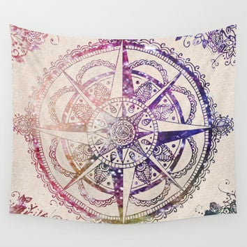 Voyager II Wall Tapestry by Jenndalyn