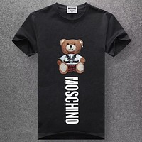 Boys & Men Moschino Fashion Casual Short Sleeve Shirt Top Tee
