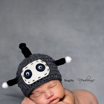 Robot Hat, Newborn Baby Hat, Photography Prop