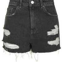 MOTO Black Ecru Rip Mom Short - New In This Week - New In