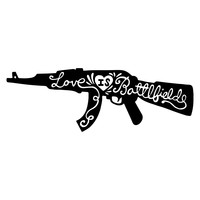Love Is A Battlefield Character-Type Wall Decal