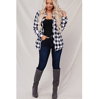 All Squared Away Plaid Jacket (White)