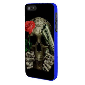 What Do You Want Skull iPhone 5 Case Available for iPhone 5 iPhone 5s iPhone 5c iPhone 4/4s