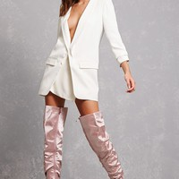 Satin Over-the-Knee Boots