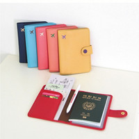 New Fashion Cute 6 Colors Air Travel Passport Cover Case Card Holder Leather Wallet [7655920646]