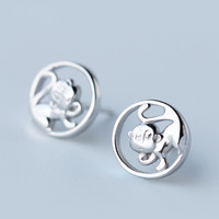 Naughty little monkey 925 sterling silver earrings , a perfect gift