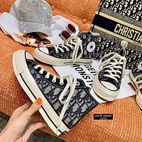 DIOR x CONVERSE 1970S canvas high-top sports skateboard shoes