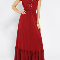 Dress The Population Evan Lace-Inset Maxi Dress - Urban Outfitters