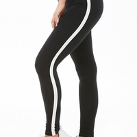 Striped-Trim Leggings