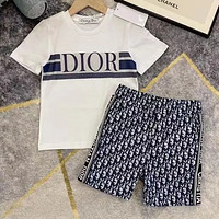 Dior Boys and girls middle and large children's baby Pullover short sleeved pants