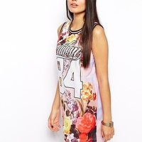 Dress With Varsity Number Detail