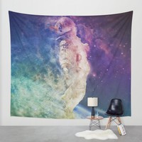 Astronaut dissolving through space Wall Tapestry by Psychedelic Astronaut | Society6