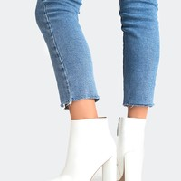 White Sleek Bootie