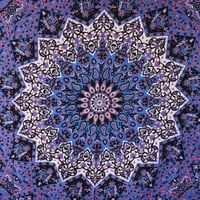 Shopnelo Home Special Popular Handicrafts Hippie Mandala Tapestry, Blue Purple Tapestry Wall Hanging, Indian Tapestry, Large Table Runner Bed Cover Indian Art, Cotton Bohemian Tapestry, Hippie Tapestry, Cotton Bed Sheet, Decor Art Wall Hanging