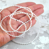 White String Faux Pearl Beads 3mm in 120cm length great for Crafts Gift Wrapping Jewelry Strand Beads Party Favors Party Supplies Weddings