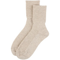 Johnstons of Elgin Ladies Ribbed Ankle Sock - Dark Medium