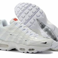 DCCK Nike Air Max 95 Fashion Running Sneakers Sport Shoes White